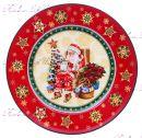 """Набор новогодних тарелок Санта 6 шт """"Lefard"""""""