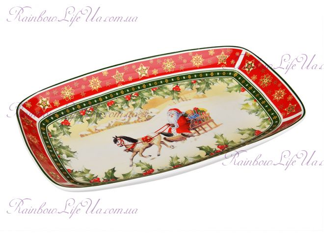 """Блюдо новогоднее Санта на коне """"Lefard"""""""