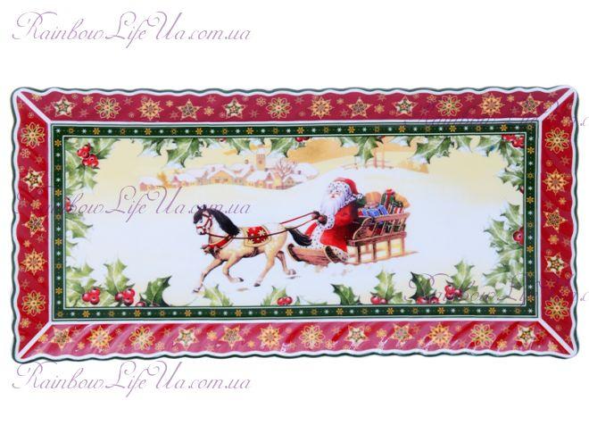 """Блюдо Санта на коне новогоднее """"Lefard"""""""