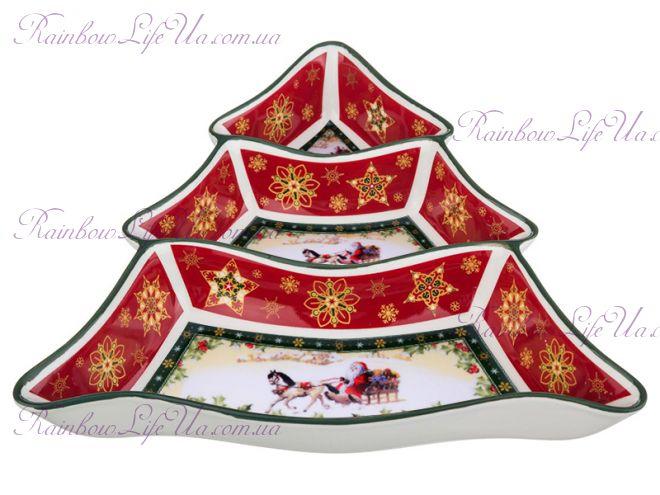 """Менажница - елка новогодняя Санта на коне """"Lefard"""""""