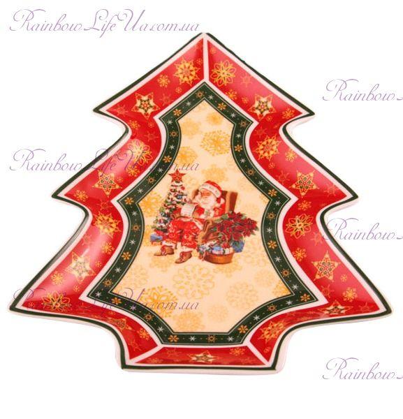"""Блюдо - елка новогоднее Санта """"Lefard"""""""