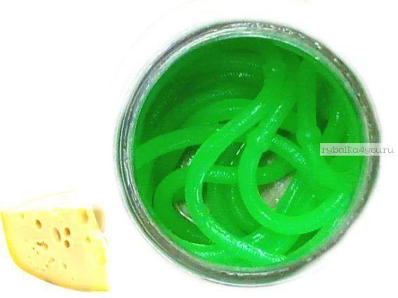 Мягкие приманки Neon 68 Лапша Доширак аромат: сыр / цвет:  зелёный