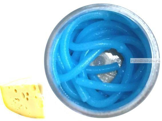 Мягкие приманки Neon 68 Лапша Доширак аромат: сыр / цвет:  голубой