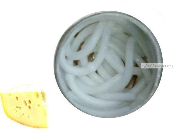 Мягкие приманки Neon 68 Лапша Доширак аромат: сыр / цвет:  белый