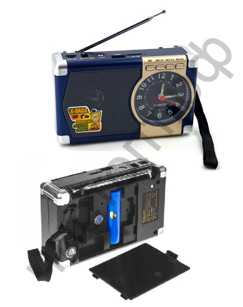 Радиоприёмник Meier M-201U USB / TF / AUX-3.5мм аккум. 18650