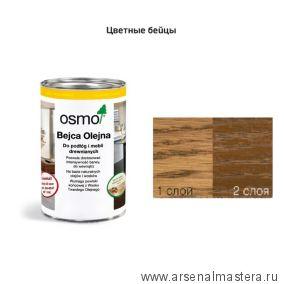 Цветные бейцы на масляной основе для тонирования деревянных полов Osmo Ol-Beize 3541 Гавана 0,125 л