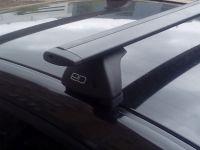 Багажник на крышу Nissan Almera 2012-..., Евродеталь, черные крыловидные дуги
