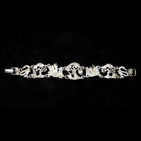 """Браслет """"Адам и Ева"""" цвет матового серебра (AJC США)"""
