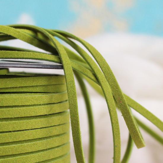 Шнур из искусственной замши -  Зеленый