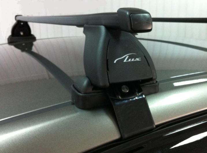 Багажник на крышу Ford Ranger 2011-... (без рейлингов), Lux, прямоугольные стальные дуги