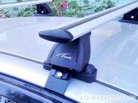 Багажник на крышу Ford Ranger 2011-... (без рейлингов), Lux, крыловидные дуги