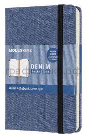 Книжка зап.Moleskine Pocket Denim линейка синий LCDNB2MM710