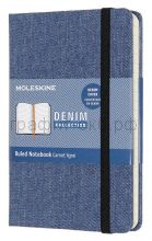 Книжка зап.Moleskine Pocket Denim линейка синий LCDNB2MM710