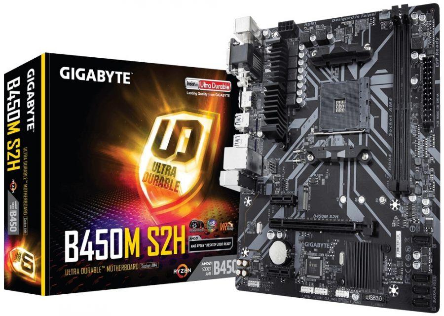 Материнская плата Gigabyte B450M S2H Socket AM4