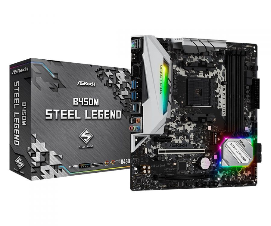 Материнская плата ASRock B450M Steel Legend Socket AM4
