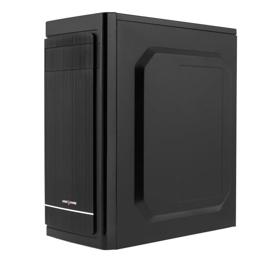 Корпус Logicpower 2006-500W 12см, 2хUSB2.0, Black