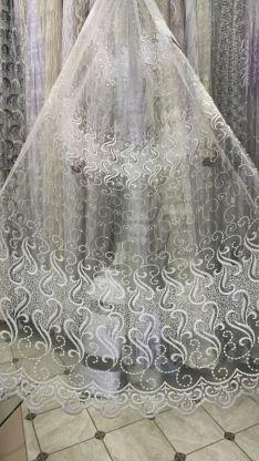 Тюль вышивка на сетке Турция 036