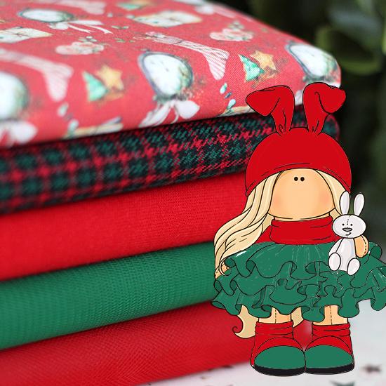 Набор тканей для пошива Время подарков