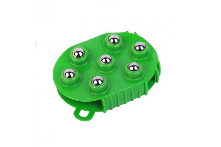 Массажер-варежка с массажными шариками (Зеленый)