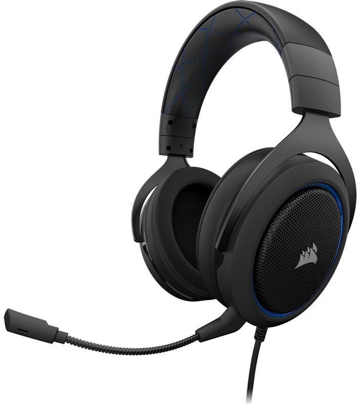 Наушники Corsair HS50 Black/Blue (CA-9011172-EU)