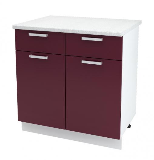 Шкаф нижний 2-х дверный с ящиками Глория ШН1Я 800