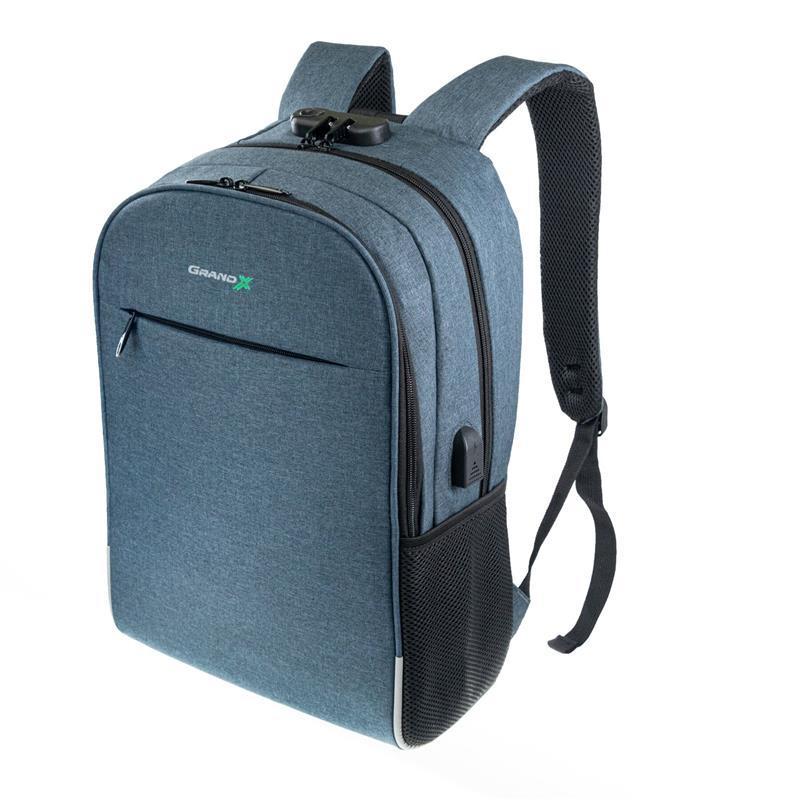 """Рюкзак для ноутбука Grand-X RS-425BL 15.6"""" Blue (кодовый замок)"""