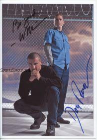 Автографы: Вентворт Миллер, Доминик Пёрселл. Побег / Prison Break