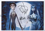 Автографы: Джонни Депп, Хелена Бонем Картер. Труп невесты