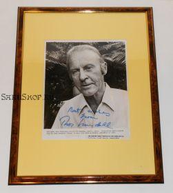 Автограф: Тур Хейердал. Фото 1977 года. Редкость