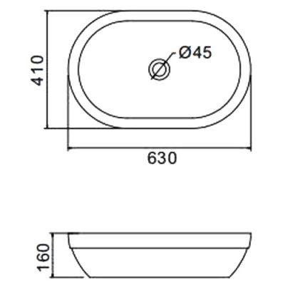 Раковина на столешницу Gappo GT301