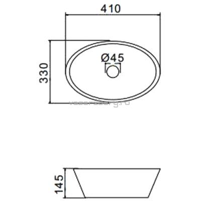 Черная раковина на столешницу Gappo GT304-8