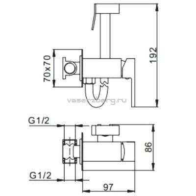 Гигиенический душ со смесителем  F7506-6