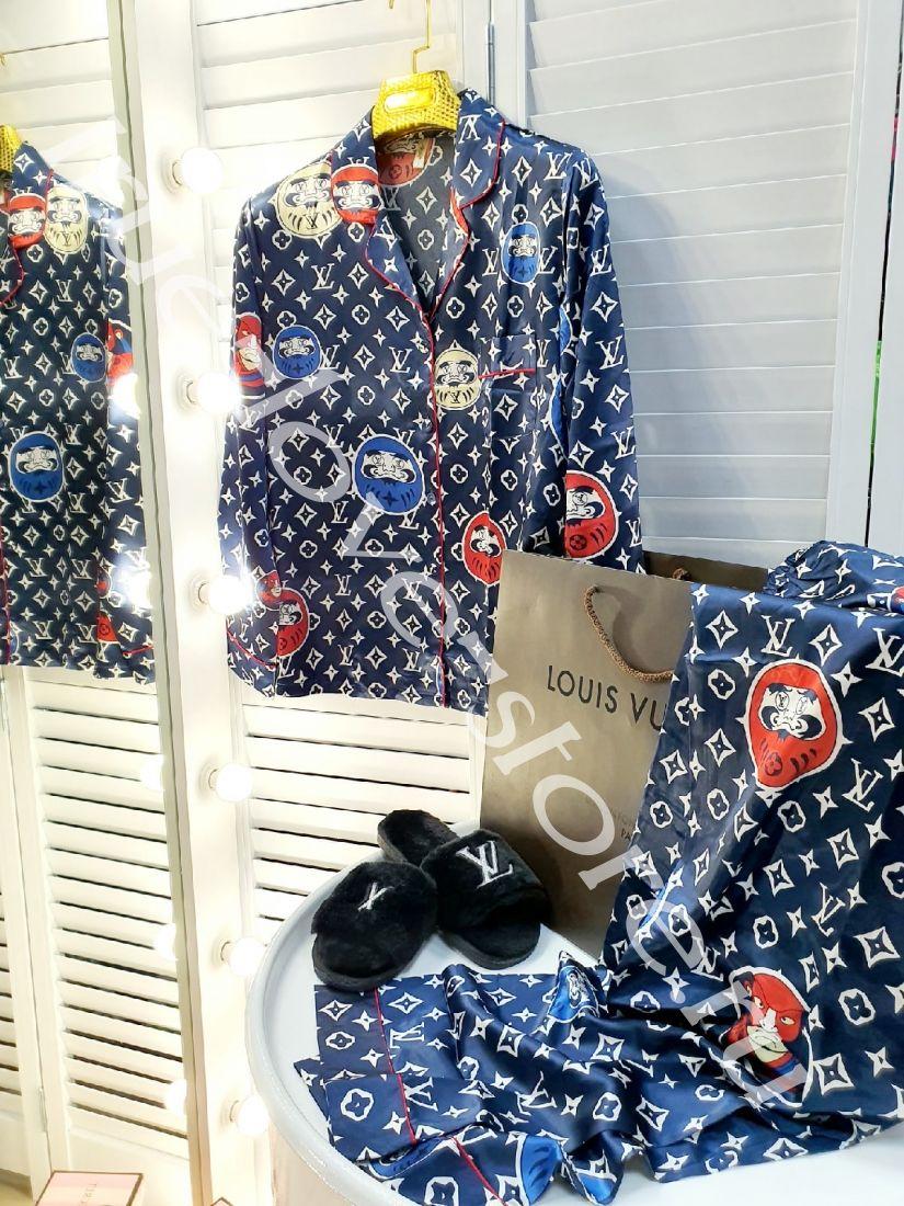 720181 -Цена за 3 шт, Пижама двойка LV сумочки темные(M,L,XL)