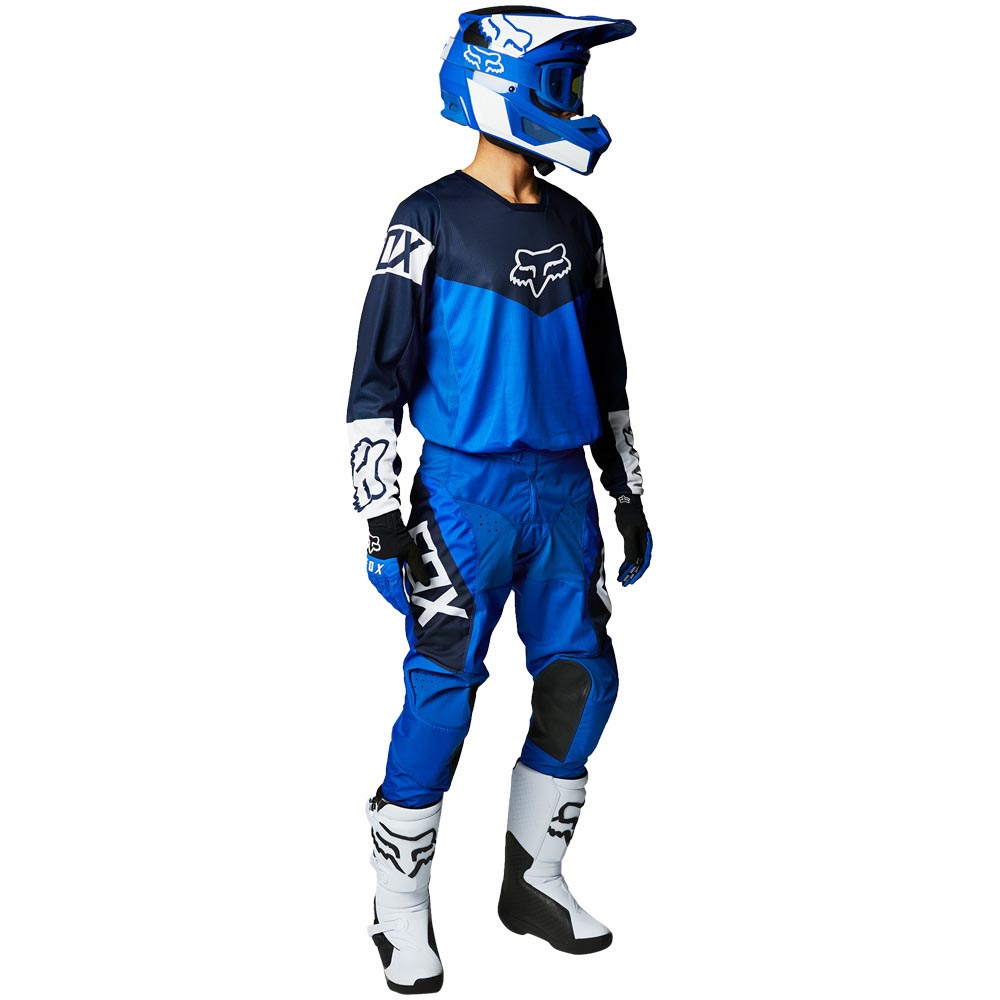 Fox 2021 180 Revn Blue джерси и штаны для мотокросса