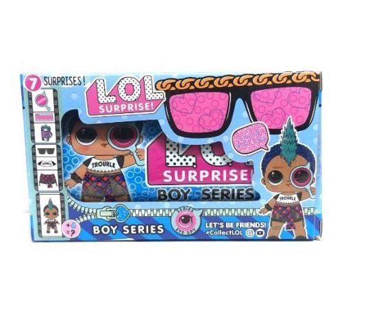 Кукла LOL Surprise Boy Series в капсуле 15х8 см и очками