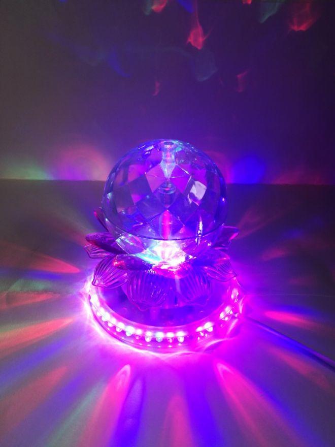 Светодиодный LED-светильник Шар В Лотосе, 13,5 см