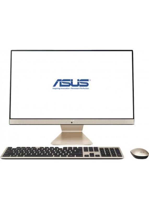 "Моноблок Asus V222FAK-BA002M (90PT02G1-M01890); 21.5"" (1920х1080) IPS / Intel Core i5-10210U (1.6 - 4.2 ГГц) / RAM 8 ГБ / SSD 256 ГБ / Intel HD Graphics / без ОП / LAN / Wi-Fi / Bluetooth / веб-камера / кардридер / без ОС / черно-золотистый / клавиат"