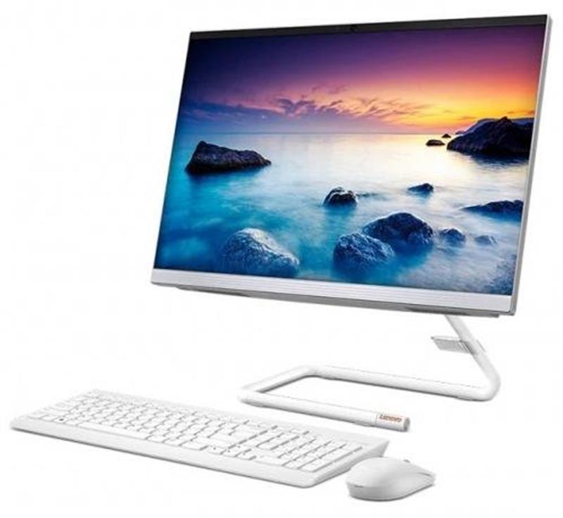 "Моноблок Lenovo A340-22IWL (F0EB00NGUA); 21.5"" (1920х1080) VA / Intel Core i3-10110U (2.1 - 4.1 ГГц) / RAM 8 ГБ / HDD 1 ТБ + SSD 128 ГБ / Intel HD Graphics / без ОП / LAN / Wi-Fi / Bluetooth / веб-камера / кардридер / DOS / белый / клавиатура + мышь"