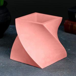 Кашпо Башня, розовое, 12 х 12 х 10 см 5224860