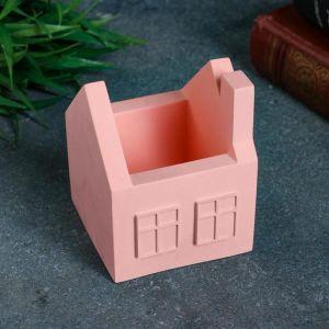 Кашпо домик, розовое, 7 х 7 х 8,5 см 5224856