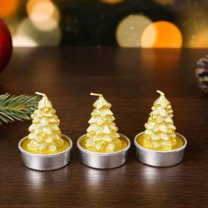 """Свеча новогодняя """"Ёлка золотая"""", 4?6 см, цена за 1 штуку  4385139"""
