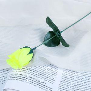 """Цветок искусственный """"Роза"""" жёлтая"""