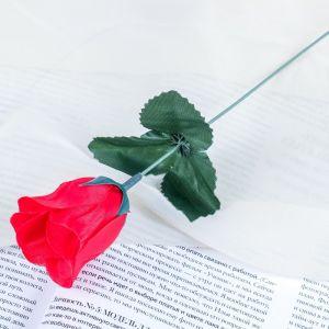 """Цветок искусственный """"Роза"""" красная"""