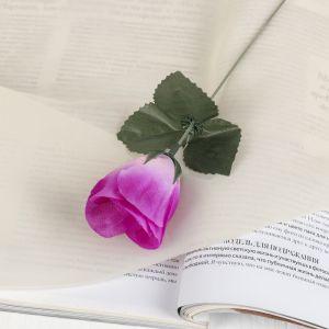 """Цветок искусственный """"Роза"""" сиреневая"""