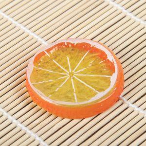Муляж кусочек апельсин d-5 см (фасовка 10шт, цена за 1шт)   3601729