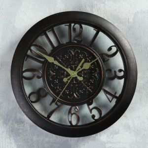 """Часы настенные """"Сутри"""", бронзовые, d=30 см 725898"""