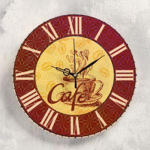 """Часы настенные """"Кофе"""", d-23.5. плавный ход 5234002"""