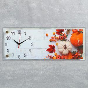 """Часы настенные, серия Кухня, """"Овощной микс"""", плавный ход, 49.5х19.5 см 5306703"""