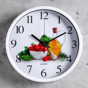 """Часы настенные, серия: Кухня, """"Веган"""" d=30 см, дискретный ход   4620783"""