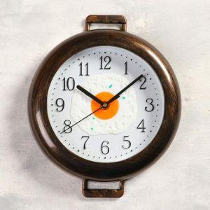 """Часы настенные, серия: Кухня, """"К завтраку"""", плавный ход, 3 АА, 25х29 см   5165280"""